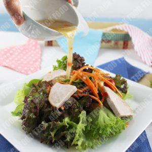 Salad With Ham Steak สลัดแฮมเสต็ก
